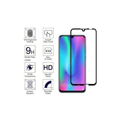 Folie Protectie ecran antisoc , Full Glue , Huawei Y7 2019 , Tempered Glass 10D , Full Face , Neagra Bulk