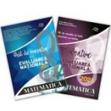 Pachet carti Evaluarea Nationala 2021 - Matematica - Ghid complet: repere teoretice - aplicatii recapitulative - modele teste simulare si 40 de teste