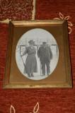 fotografie veche in rama metalica ,atelier rame Timisoara ,la 1900