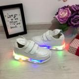 Adidasi albi cu lumini LED si urechi pentru copii / fetite 22 27, Fete, Din imagine