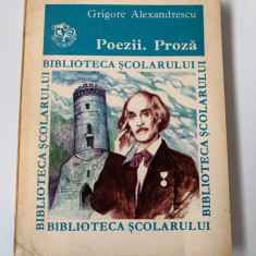 Grigore Alexandrescu - Poezii. Proza - Biblioteca scolarului 104