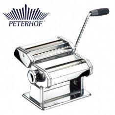 Aparat pentru făcut paste din inox cromat, cu reglare 9 grosimi, Peterhof