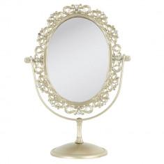 Oglinda de masa auriu vintage 20x11x27 cm
