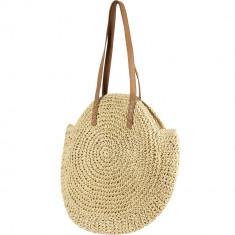 Handmade Natural Raffia Shoulder Bag