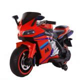 Motocicleta electrica cu lumini LED Sport Red, Moni