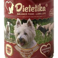 Promotie 12 x Hrana umeda pentru caini, Dietetika Miel, 800 gr