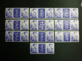 Romania, 1956 LP. 406b Ziua copilului triptic cu 10 viniete diferite MNH (RAR)