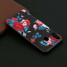 Husa Samsung Galaxy M20 TPU Model Flori Neagra