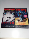 2 Casete video cu filme bune Horor-Scream si Bad Boys-Filme de Colectie, Caseta video, Engleza