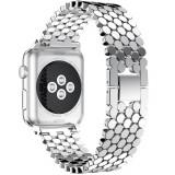 Cumpara ieftin Curea pentru Apple Watch Silver Jewelry iUni 44mm Otel Inoxidabil