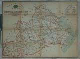 Harta pe panza, Basarabia, jud. Cetatea Alba, an 1919
