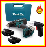 Bormasina Autofiletanta Makita 18V 2 Acumulatori+Surubelnita Electrica 3.6V, Cu acumulator