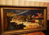 Cumpara ieftin Tablou scoala Baia Mare semnat Nagy Oszkar, Peisaje, Ulei, Impresionism