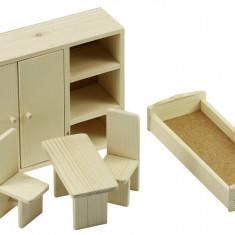 Mobila Dormitor pentru papusi lemn mare
