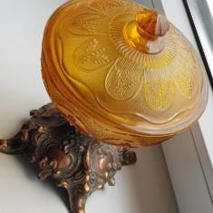 Bomboniera - Baroc -sticla si metal