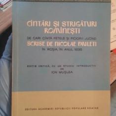 Cantari si strigaturi romanesti – Nicolae Pauleti