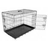 Cumpara ieftin Cușcă pentru câini Black Lux - 2x uși, L - 91 x 59 x 65,5 cm