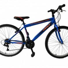 "Bicicleta MTB Umit Colorado Man, Culoare Albastru/Portocaliu, Roata 26"" OtelPB Cod:26010000003, V-brake"