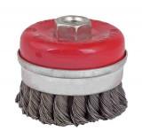 Perie circulara tip cupa cu toroane heavy duty pentru flex 75 mm