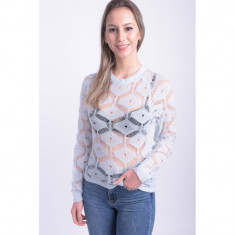Bluza Transparenta Only Molly Knitted Baby Blue, S, Albastru