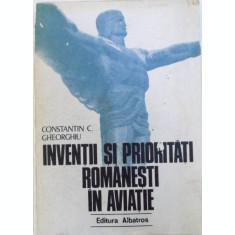 INVENTII SI PRIORITATI ROMANESTI IN AVIATIE DE CONSTANTIN C. GHEORGHIU , 1979