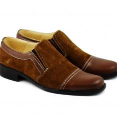 Pantofi barbati maro, din piele naturala, casual - eleganti P36MM
