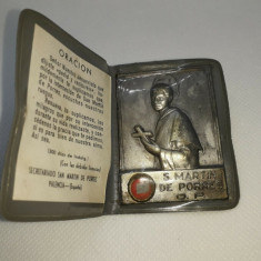 Amuleta Iconita Veche Catolica S.Martin De Porres