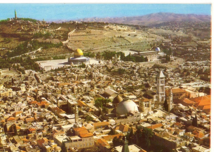 AD 1108 C. P. VECHE -IERUSALEM,  BIRD'S EYE VIEW -IERUSALIM -ISRAEL