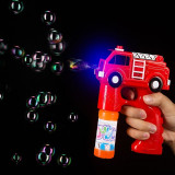 Pistol baloane sapun, jucarie muzicala LED, forma masina Pompieri