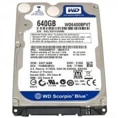 Hard Laptop 2.5 Western Digital Scorpio Blue WD6400BPVT 640GB 5400 RPM 8MB