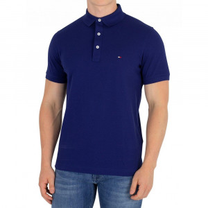 Tricou Tommy Hilfiger Blue Depths Slim Fit, Slim Fit, culoare Albastru, marime XXL