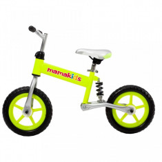 Bicicleta fara pedale 12 inch Hit Mamakids - Verde