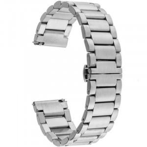 Curea ceas Smartwatch Samsung Gear S3, iUni 22 mm Otel Inoxidabil, Silver