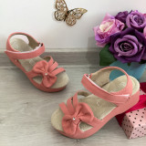 Cumpara ieftin Sandale roz cu fundita si platforma pt fetite 24 25 26 ( talpa piele naturala )