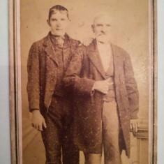 CDV, foto carton veche, Louis Rebernigg, Steierdorf, Banat, foarte rara
