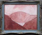 Peisaj muntos - semnat  P.Sandro