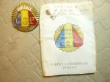 Insigna de Sapca CGP -Corpul Gardienilor Publici + Legitimatie +adresa Consiliul