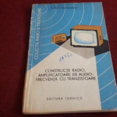 STANCIULESCU CONSTRUCTII RADIO AMPLIFICATOARE DE AUDIO FRECVENTA CU TRANZISTOARE