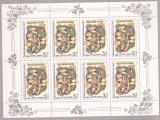 RUSIA ( URSS) 1986   CIUPERCI  5 minicoli cu cate 8 val.   MNH**