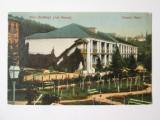 Rara! Carte postala Baile Baltatesti/Neamt:Hotelul Mare,circulata 1925, Printata