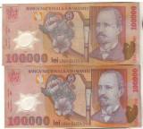 SV * Romania  BNR  LOT 2 x 100000 LEI 2001 / 2002 - 2003       VF