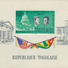 Togo 1962 - Visit of Sylvanus Olympio to USA, colita neuzata