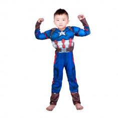 Costum Captain America Avengers Endgame cu muschi marimea L 7 9 ani