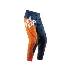 Pantaloni motocross Thor Core Slash culoare portocaliu/albastru inchis marime 32 Cod Produs: MX_NEW 29014865PE