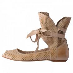Pantofi decupati dama, din piele naturala, marca Endican, n-91-3, bej 37