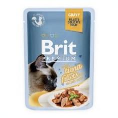 Pliculeț BRIT Premium Cat Delicate Fillets in Gravy with Tuna 85 g