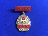 Insignă pionieri -Insignă aniversară XXX ani -Organizația de pionieri 1949-1979