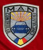 Emblema MAN Controlul circulației Patch ecuson armata