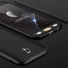 Husa Samsung Galaxy J5 J530 2017 Acoperire Completa 360 De Grade Cu Geam Protectie Display Matuita Neagra