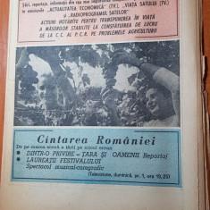 Revista radio-tv saptamana 6-12 septembrie 1981